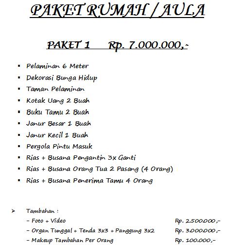 Cawang Paket Rias Pengantin Dekorasi Murah 082298385915